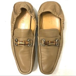 Gucci Men's Brown Bamboo Bit Loafers